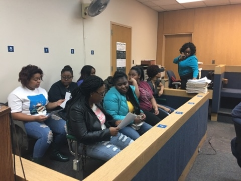 Starkweather Academy Students Visit Judge Braxton at the Lincoln Hall of Justice