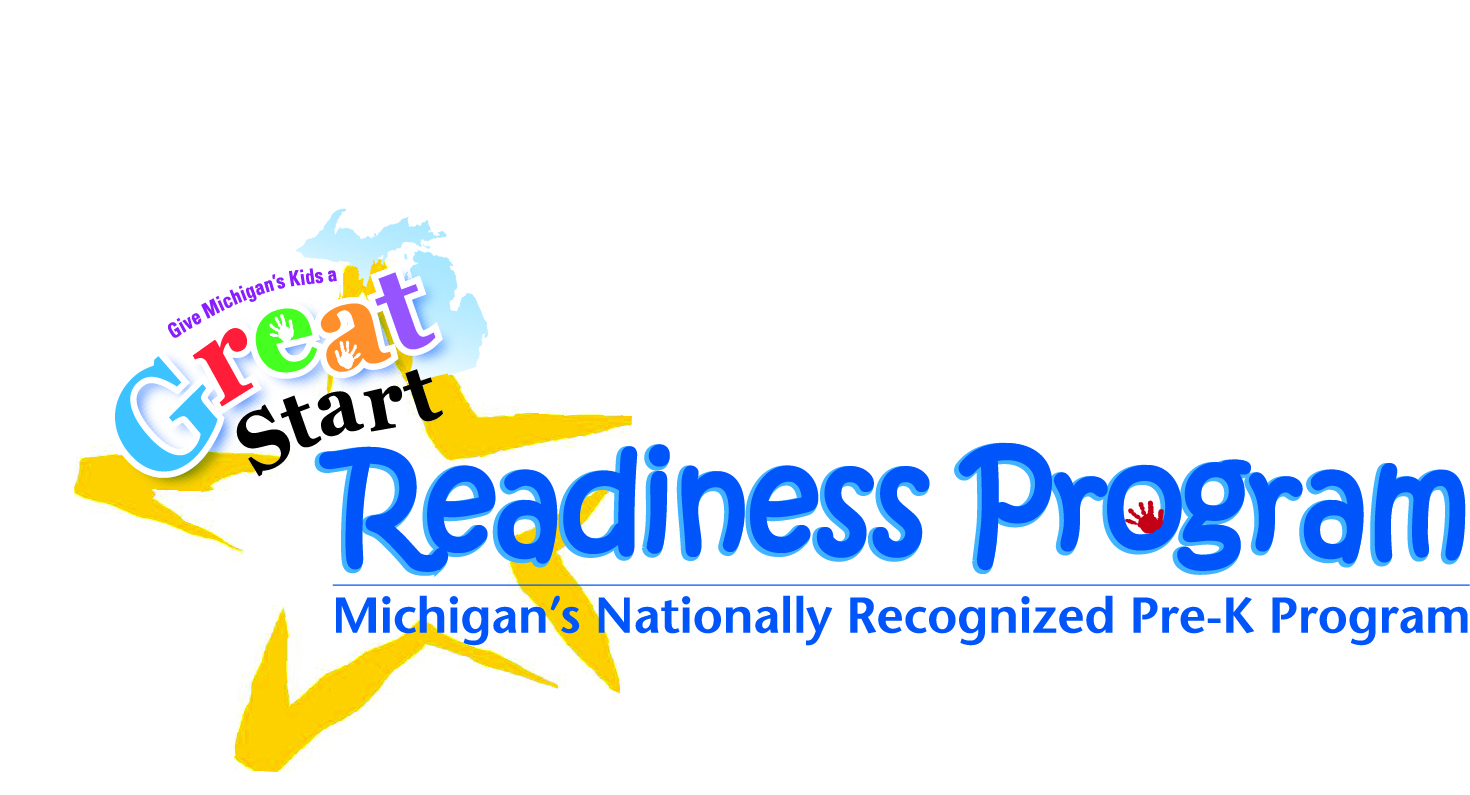 Great start readiness text logo