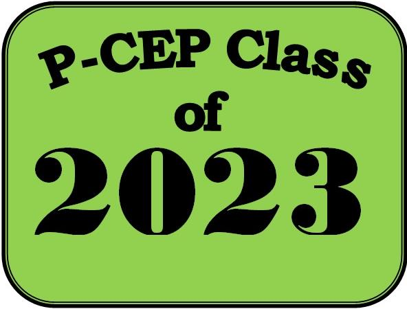 PCEP Class of 2023 logo on green background