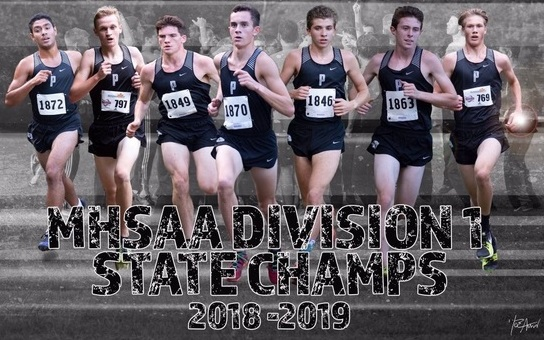 PHS Boys Cross country state champs 2018