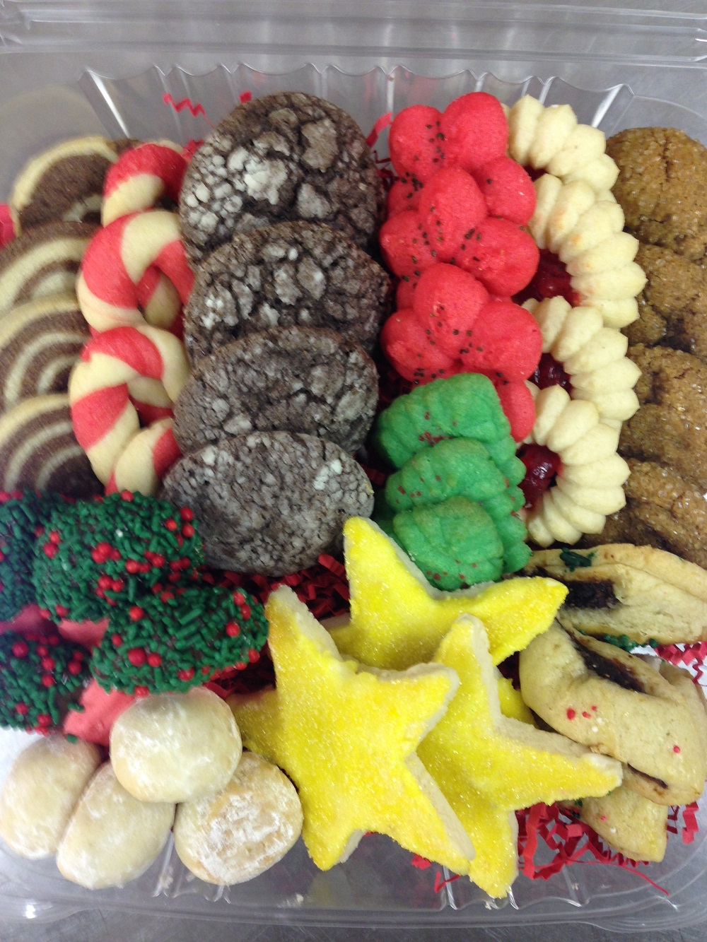box of tasty holiday cookies