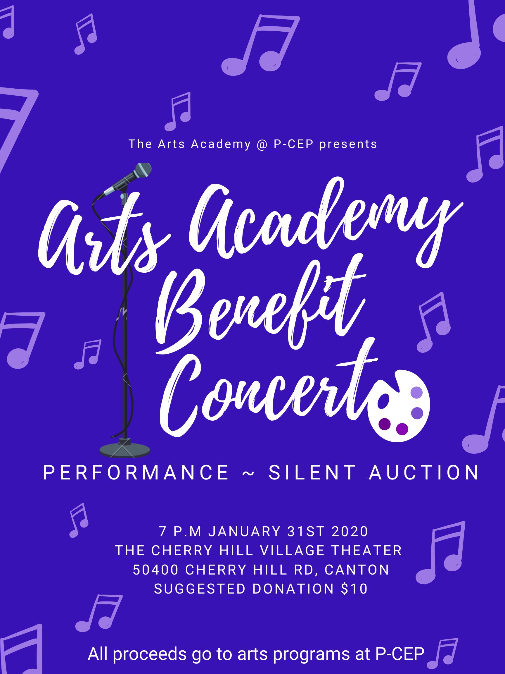 P-CEP Arts Academy Benefit Concert Jan. 31