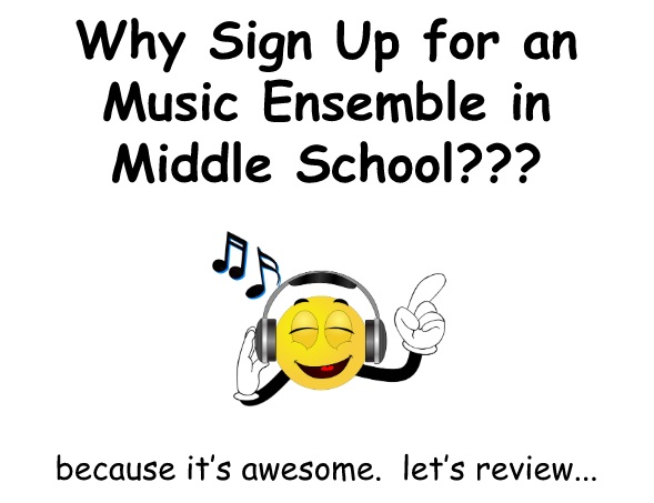 Why sign up for Music in MS