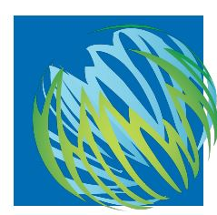 logo Parent Support Group PCCS globe on blue square