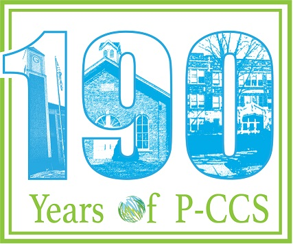 190 Years of PCCS logo green and blue